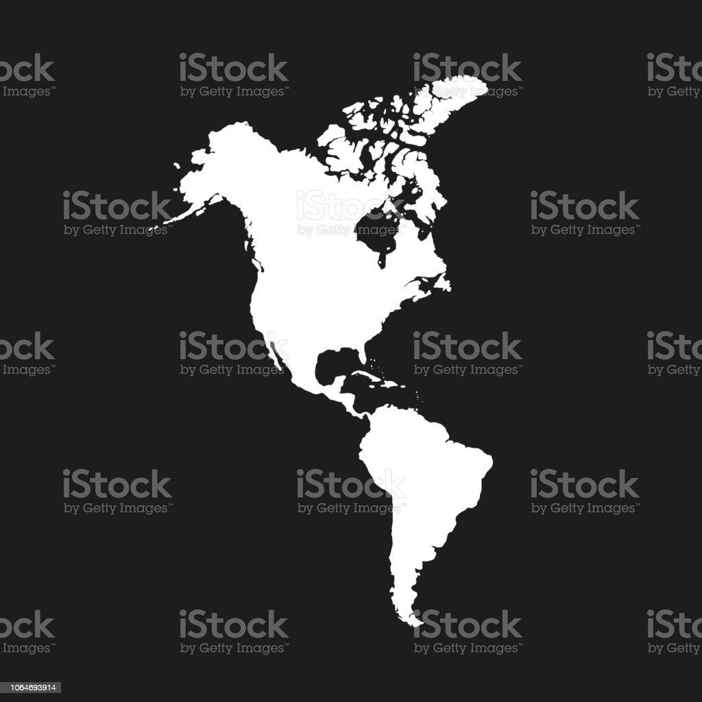 Südamerika Karte Länder.Nord Und Südamerika Festlandamerika Moderne Karte Amerika Mit Allen