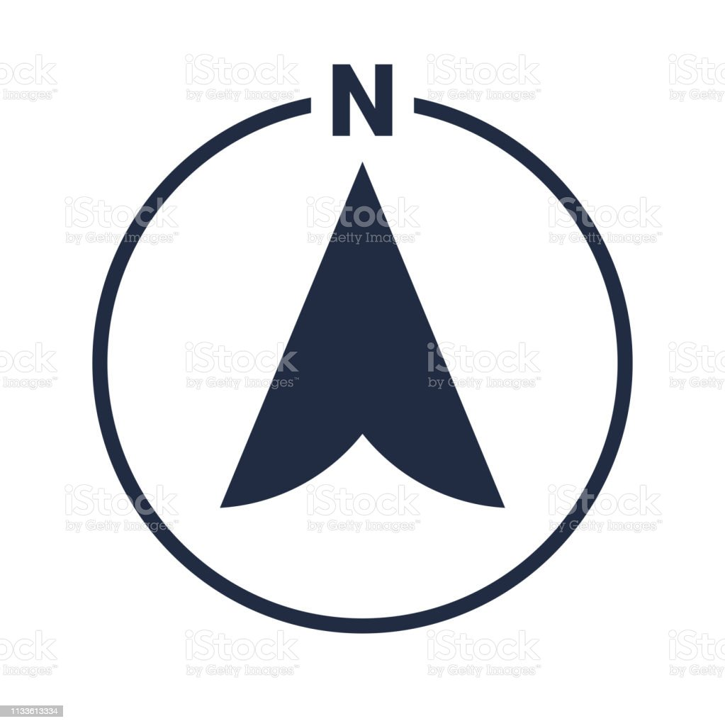 North Arrow Icon In Circle Or N Direction And Navigation Point ... on links icon, mapquest desktop icon, schedule icon, contact icon, emergency desktop icon, map directional arrows, about us icon, maps app icon, data mapping icon, right icon, apple maps icon, map icons clip art, private party icon,