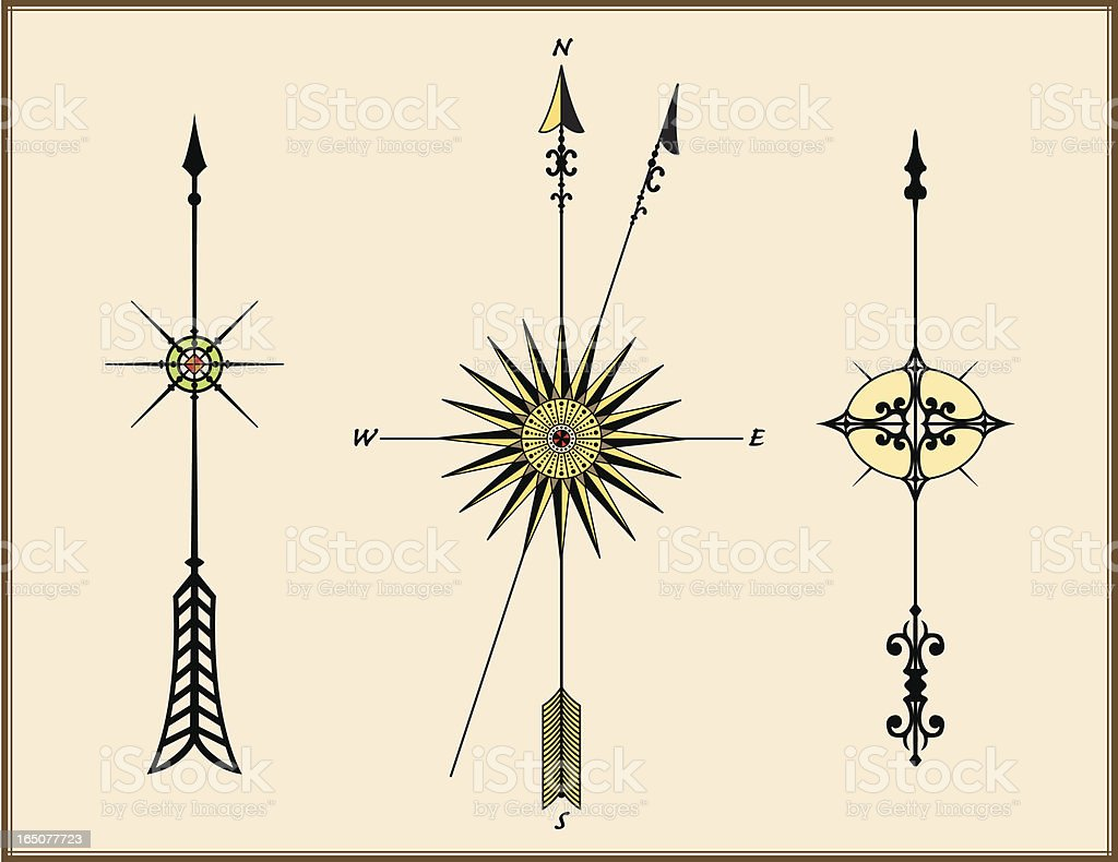 North arrows stock vector art more images of acute angle map shape star shape acute angle arrow symbol biocorpaavc