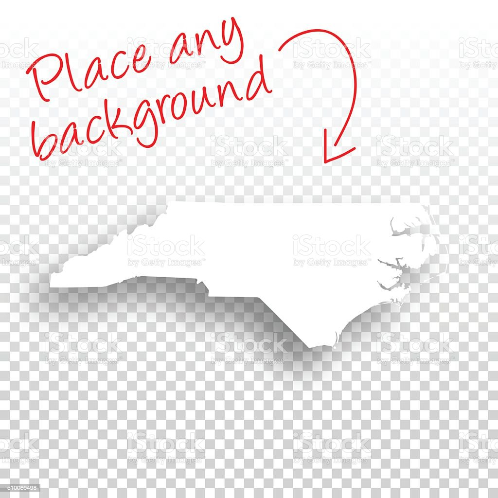 North Carolina Map for design - Blank Background vector art illustration