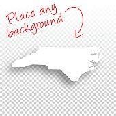 North Carolina Map for design - Blank Background