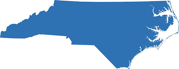 Royalty Free North Carolina Map Clip Art, Vector Images ...