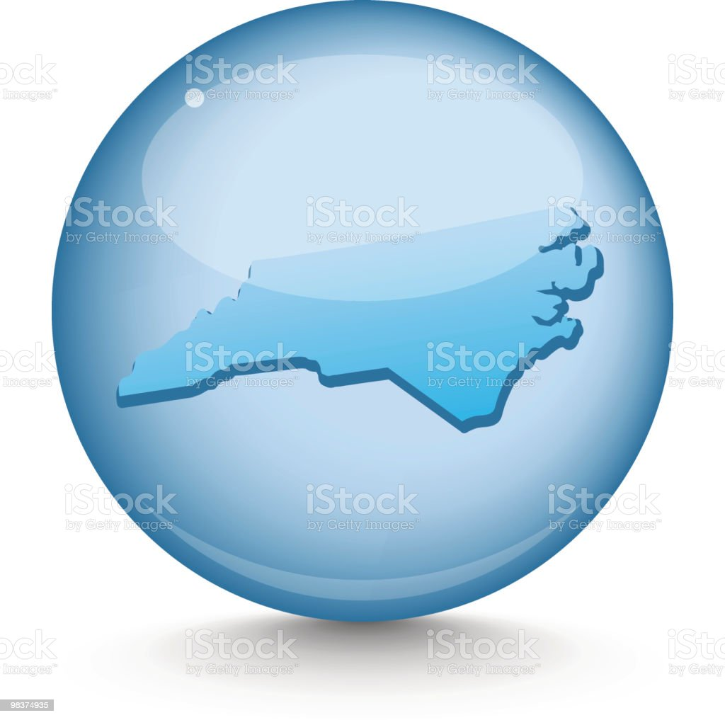 North Carolina - Sphere State Series royalty-free north carolina sphere state series stock vector art & more images of blue