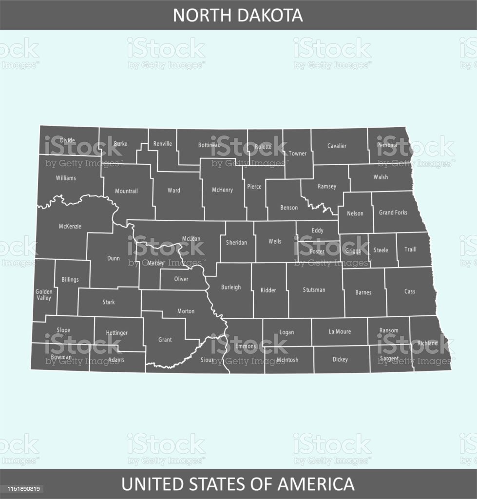 North Dakota Counties Map Stock Illustration - Download ... on map of us states, map of ohio, map of louisiana, map of oregon, map of nd, map of usa states, map of texas, map of montana, map of nevada, map of united states, map of colorado, map of arizona, map of new mexico, map of wyoming, map of sc, map of north carolina, map of california, map of washington state, map of bottineau county, map of minnesota,