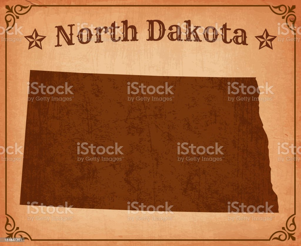 North Dakota Grunge Map with Frame royalty-free north dakota grunge map with frame stock vector art & more images of american culture