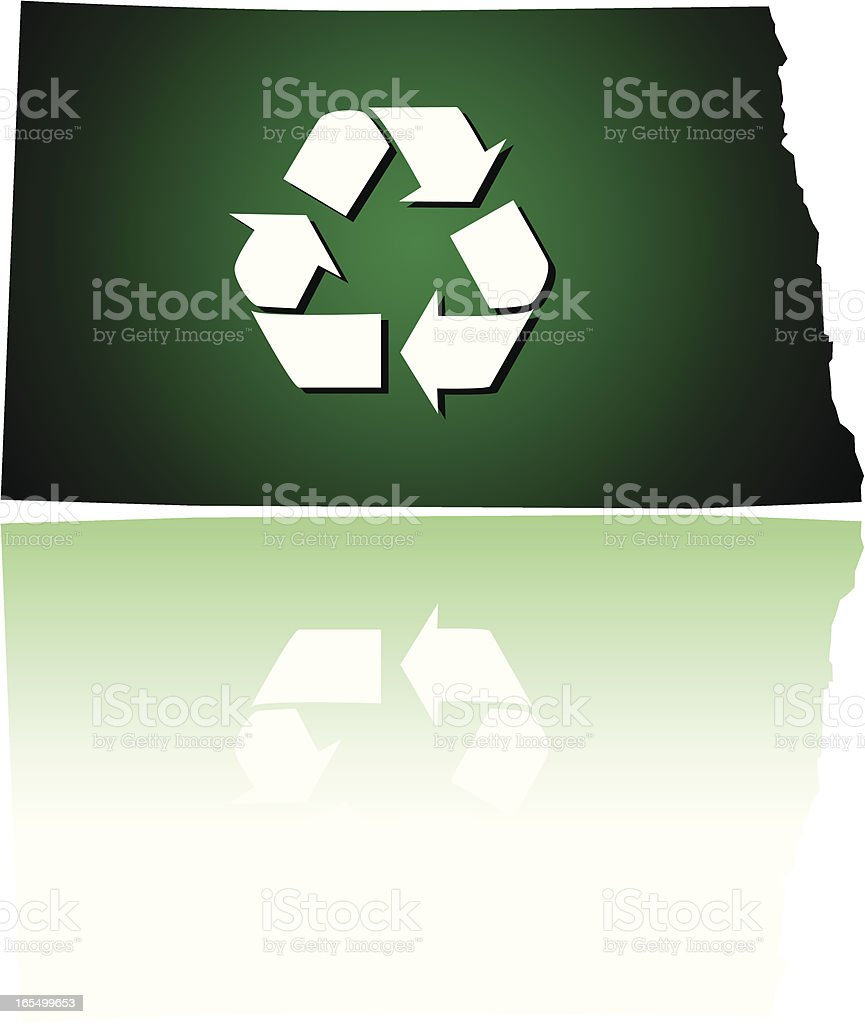 North Dakota Recycles royalty-free stock vector art