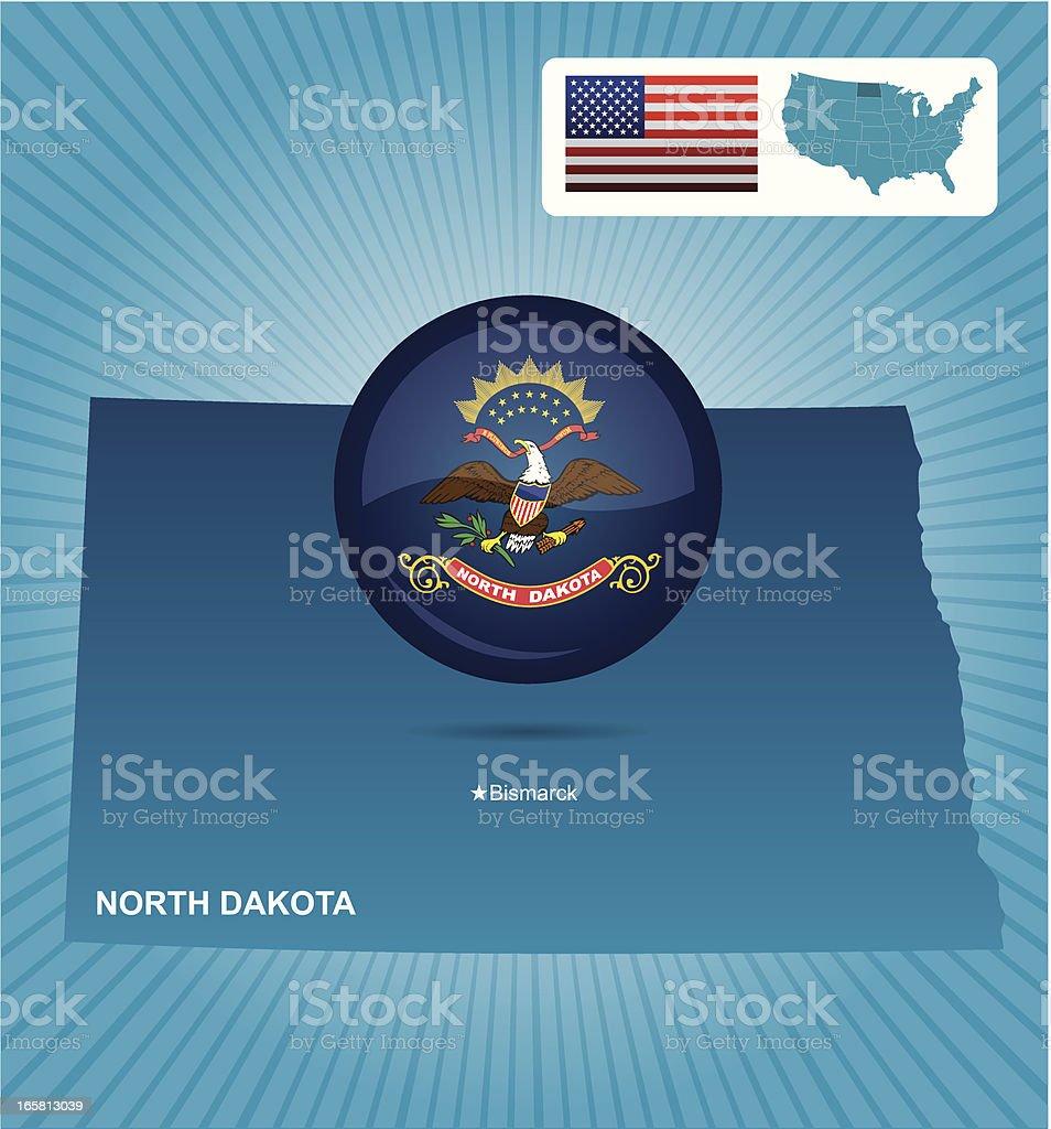 North Dakota state royalty-free stock vector art