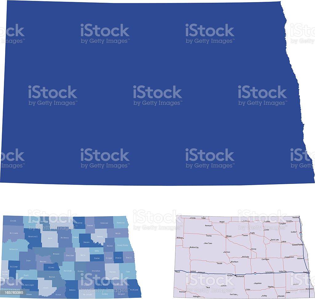 North Dakota royalty-free stock vector art