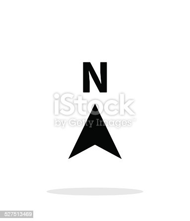 istock North direction compass icon on white background. 527513469