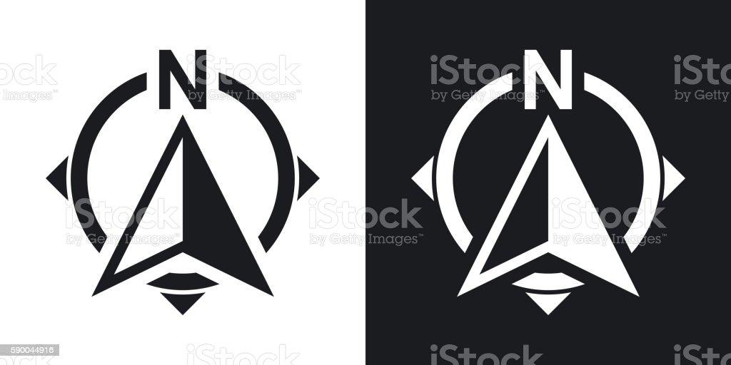 North Direction Compass Icon Stock Vector Twotone Version Stock