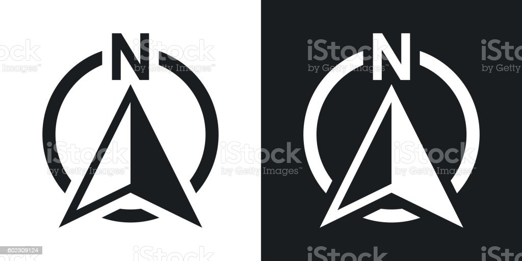 North Direction Compass Icon Vector Stock Vector Art More Images