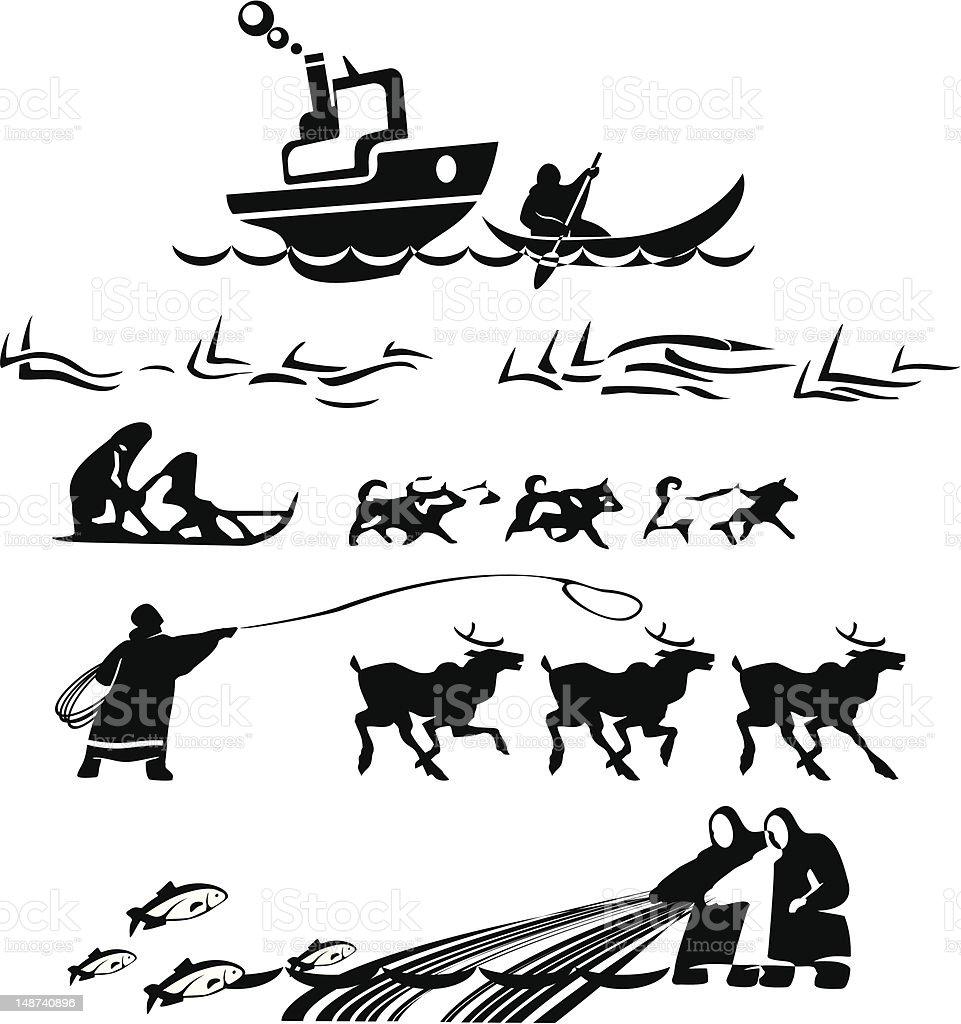 north folks vector art illustration