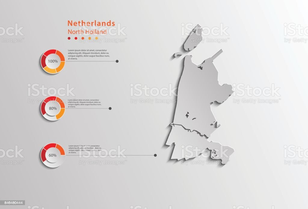 North Holland Province Netherlands Province Map For Graphical Use