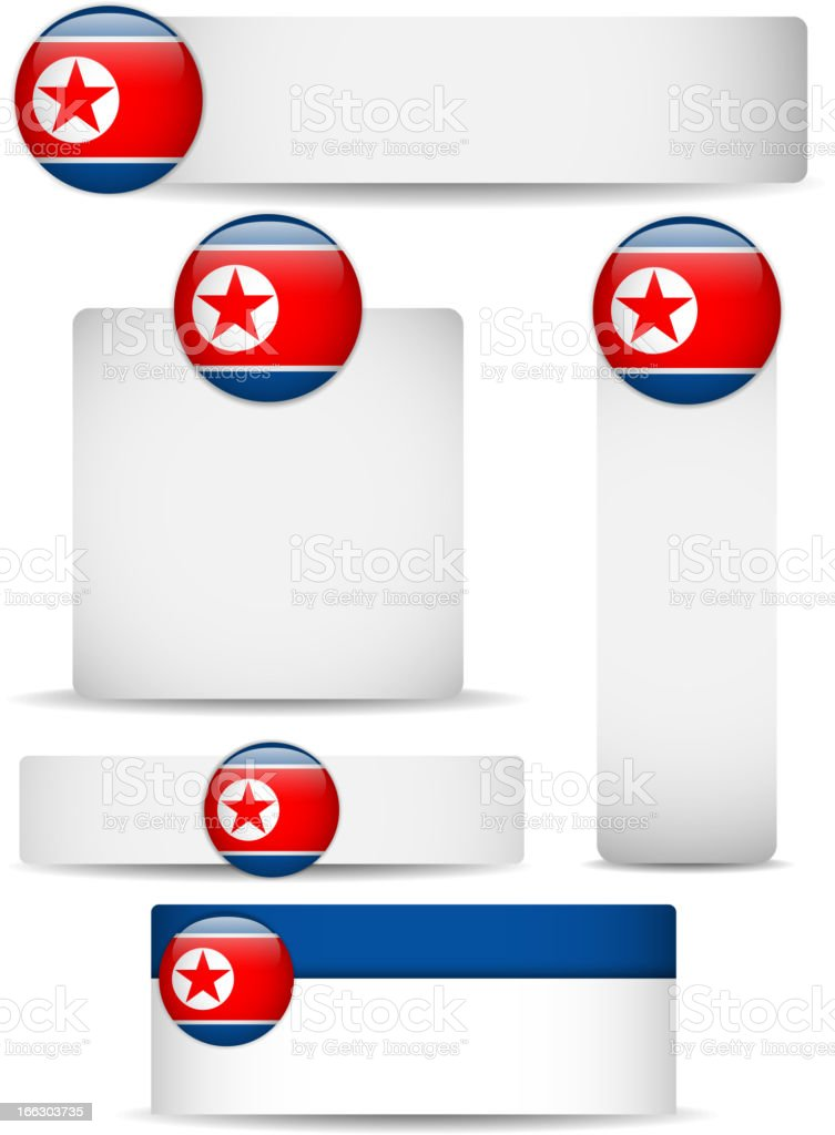 North Korea Country Set of Banners royalty-free stock vector art