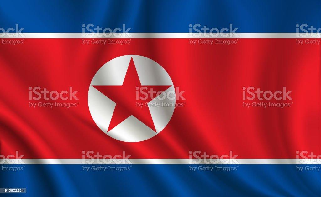 Fondo de bandera de corea del norte - ilustración de arte vectorial