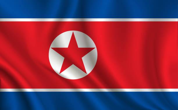 ilustraciones, imágenes clip art, dibujos animados e iconos de stock de fondo de bandera de corea del norte - bandera coreana