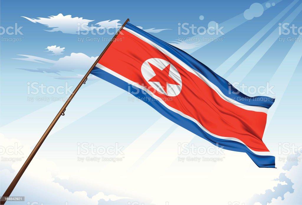 North Korea flag vector art illustration