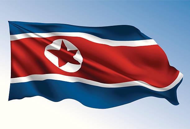 ilustraciones, imágenes clip art, dibujos animados e iconos de stock de bandera de corea del norte - bandera coreana