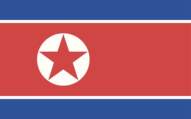 ilustrações, clipart, desenhos animados e ícones de bandeira da coreia do norte - bandeira da coreia