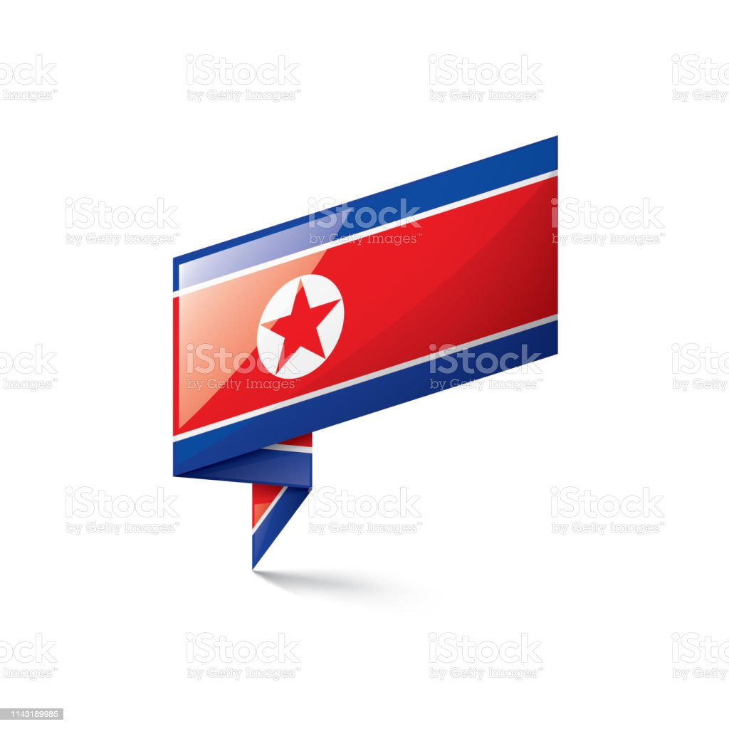 North Korea Flag Vector Illustration On A White Background