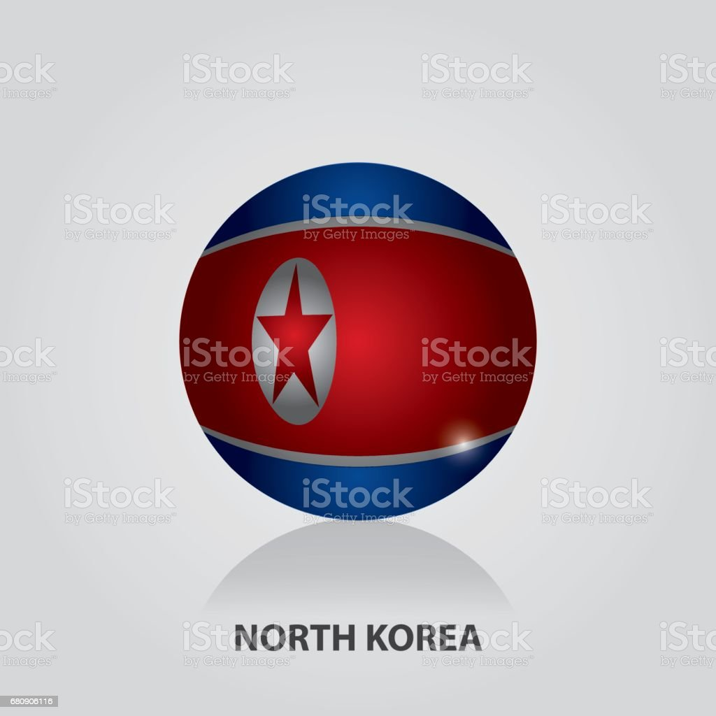 North Korea - Flags of Asia Vector Illustration royalty-free north korea flags of asia vector illustration stock vector art & more images of 2017