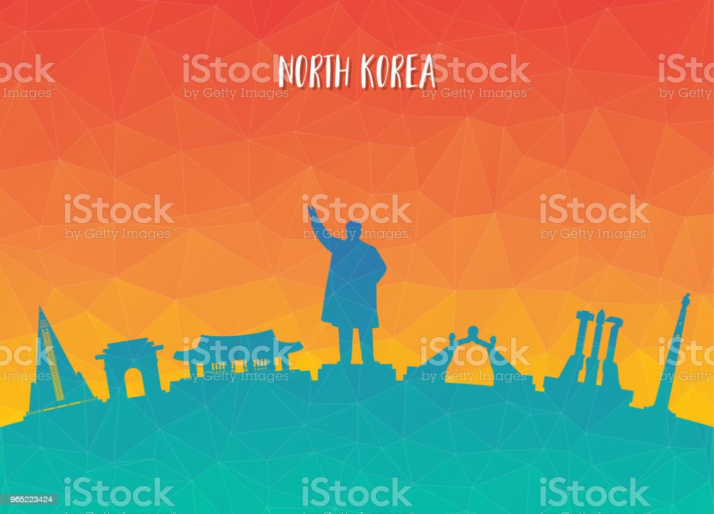 North Korea Landmark Global Travel And Journey paper background. Vector Design Template.used for your advertisement, book, banner, template, travel business or presentation. royalty-free north korea landmark global travel and journey paper background vector design templateused for your advertisement book banner template travel business or presentation stock illustration - download image now