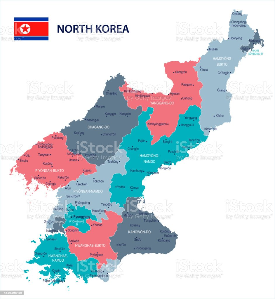 North korea map and flag detailed vector illustration stock vector north korea map and flag detailed vector illustration royalty free north korea map gumiabroncs Choice Image