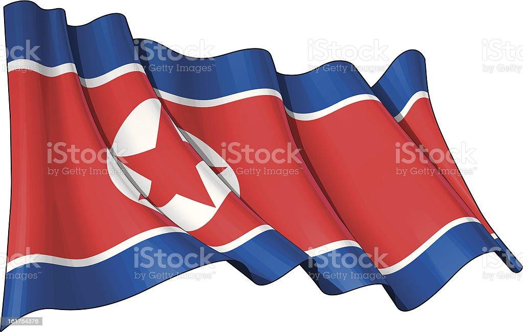 Bandeira norte-coreano - ilustração de arte em vetor