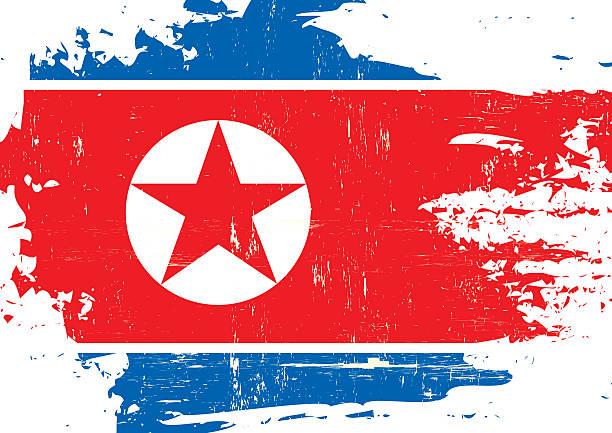 ilustraciones, imágenes clip art, dibujos animados e iconos de stock de rayada bandera de corea del norte - bandera coreana