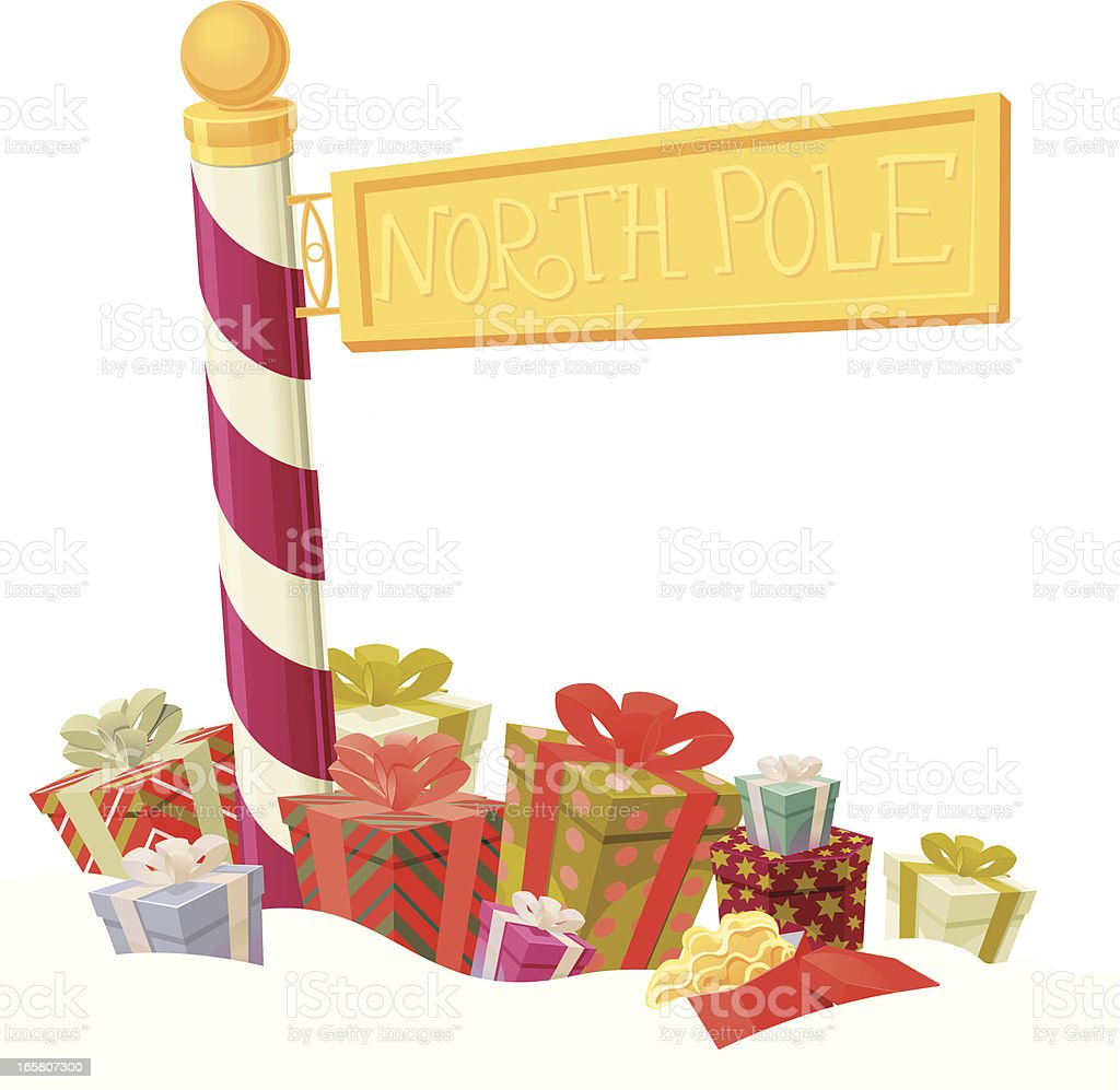 North Pole Gifts royalty-free stock vector art