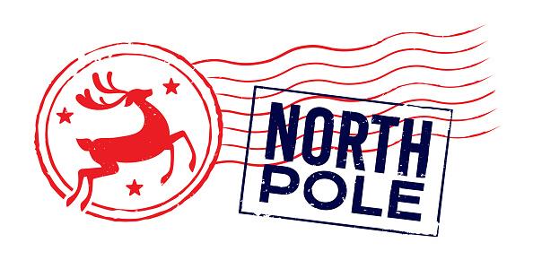 North Pole Holiday Christmas Postage Cancellation Mark
