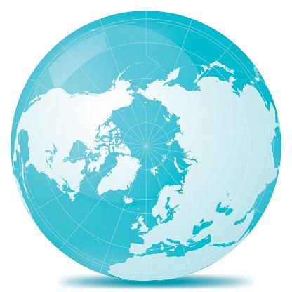 North Pole Planet Earth Blue White