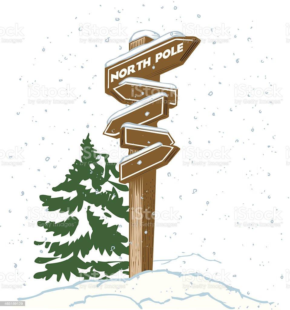 North Pole Sign C vector art illustration