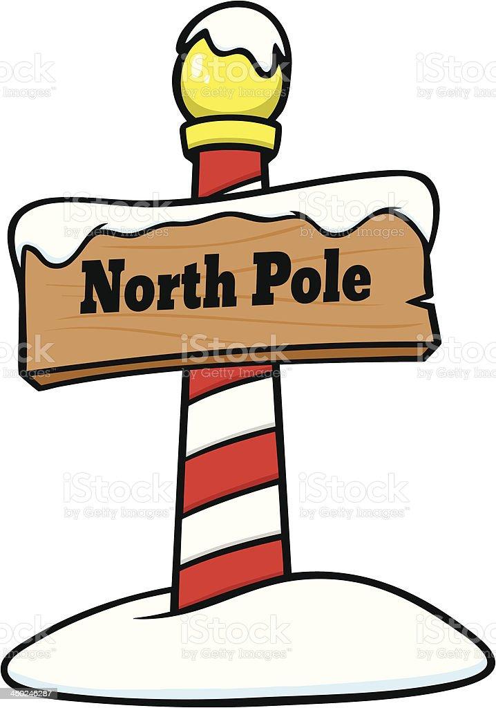 North Pole Sign vector art illustration