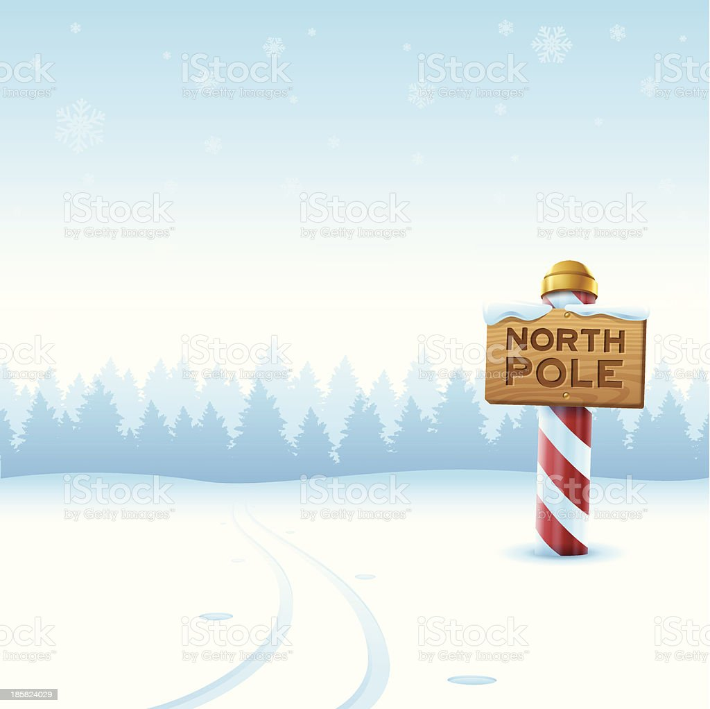 North Pole Winter vector art illustration