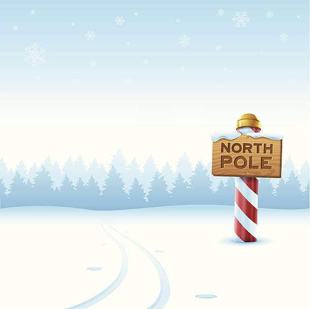 North Pole Winter North pole winter background with space for copy. EPS 10 file. Transparency effects used on highlight elements. north pole stock illustrations