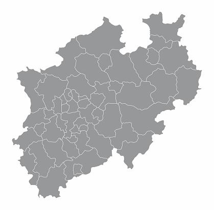 North Rhine-Westphalia districts map