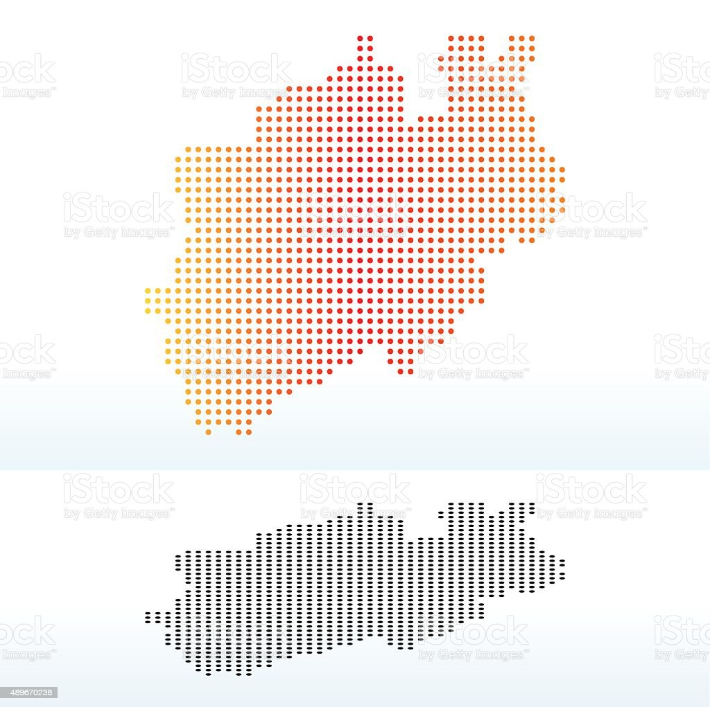 North Rhine-Westphalia, Germany vector art illustration