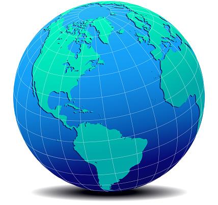 North, South America, Europe, Africa Global World