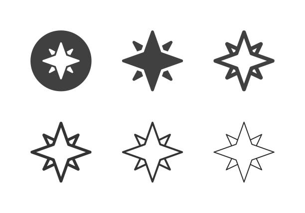 North Star Icons - Multi Series vector art illustration