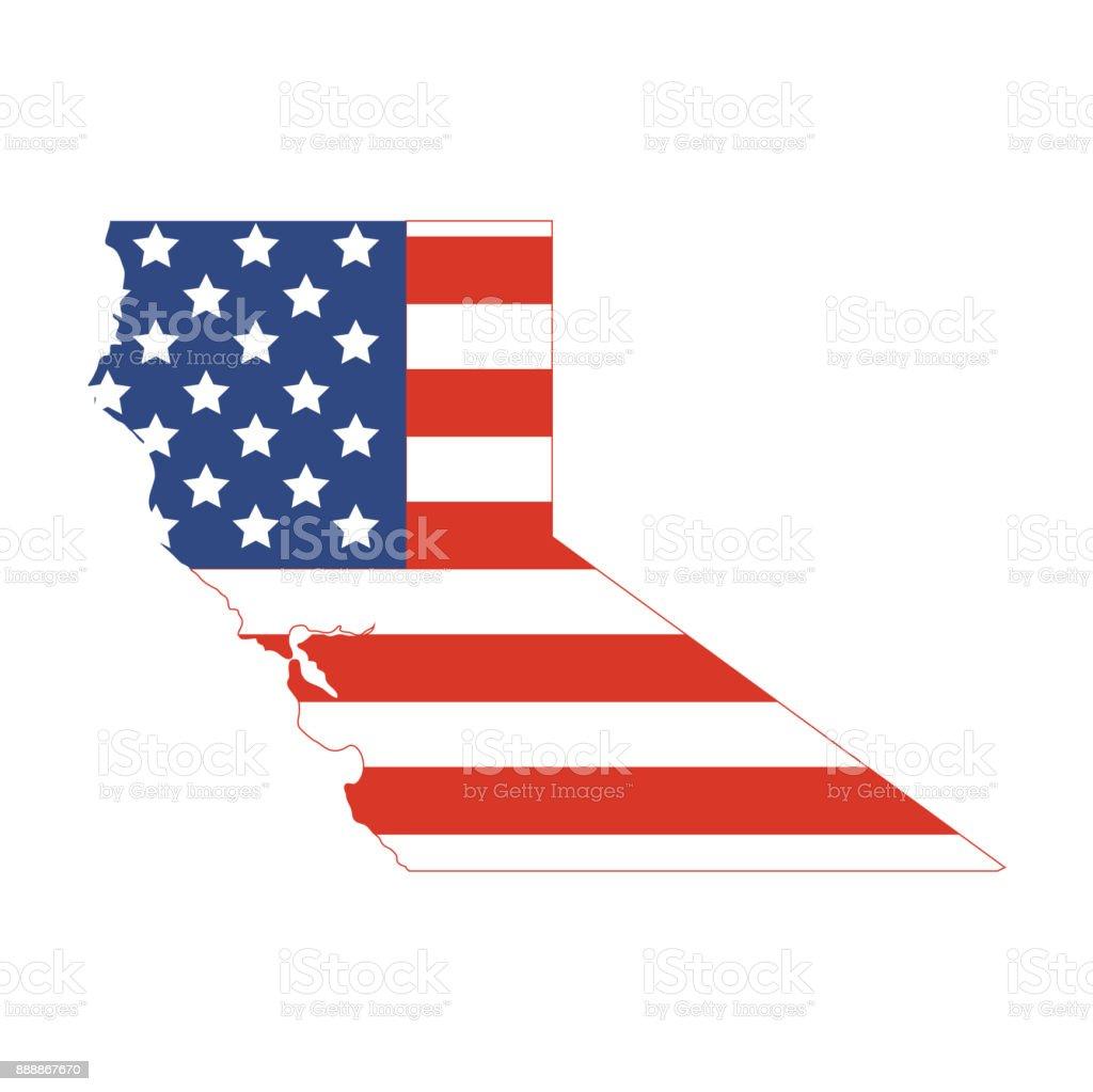 northern california map vector art illustration