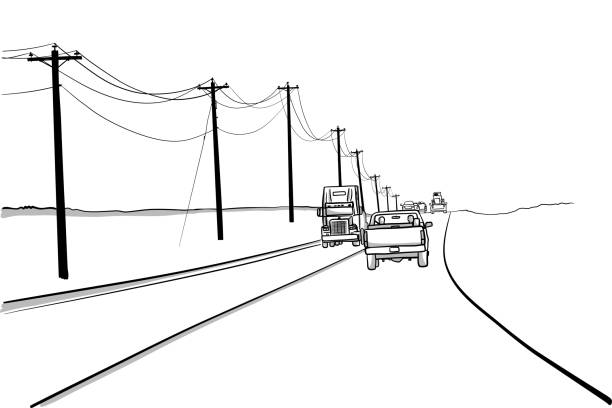 Northern Canada Rural Highway – Vektorgrafik