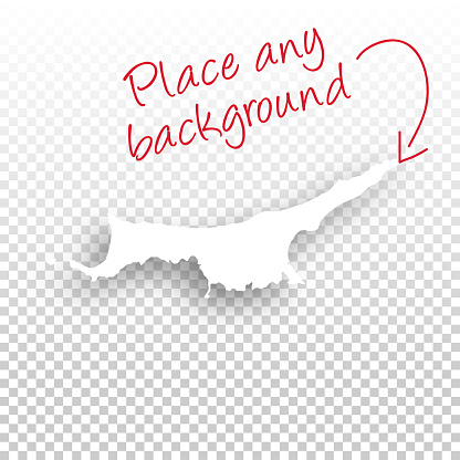 Northern Cyprus Map for design - Blank Background