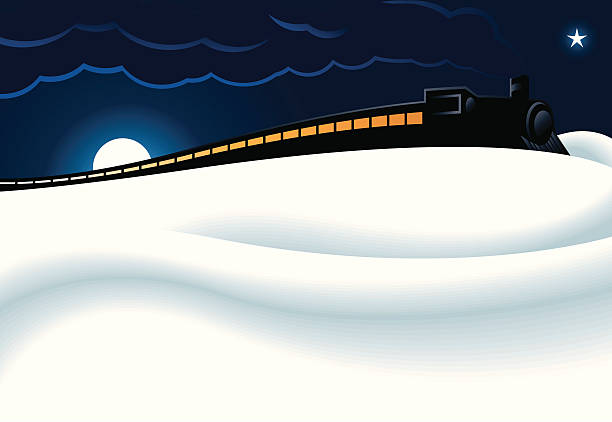 northern express train - antarctica travel stock illustrations