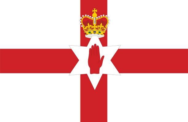 北アイルランド - アイルランドの国旗点のイラスト素材/クリップアート素材/マンガ素材/アイコン素材
