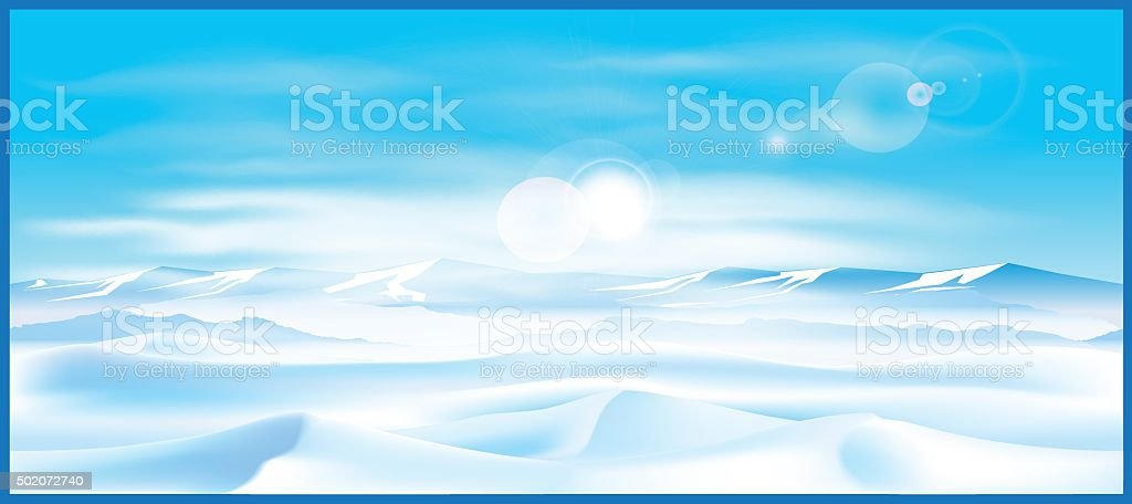 northern landscap vector art illustration