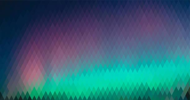 illustrazioni stock, clip art, cartoni animati e icone di tendenza di northern lights, abstract polygon background - aurora polare