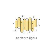 Northern Lights line icon
