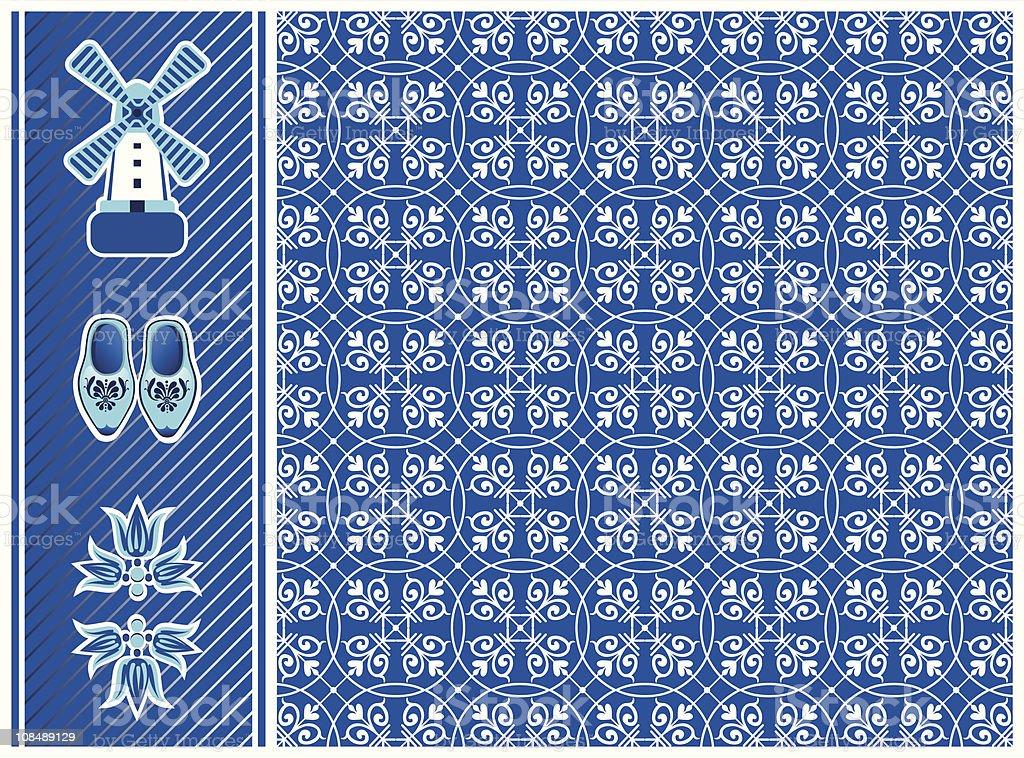 North-Holland-Pattern royalty-free stock vector art