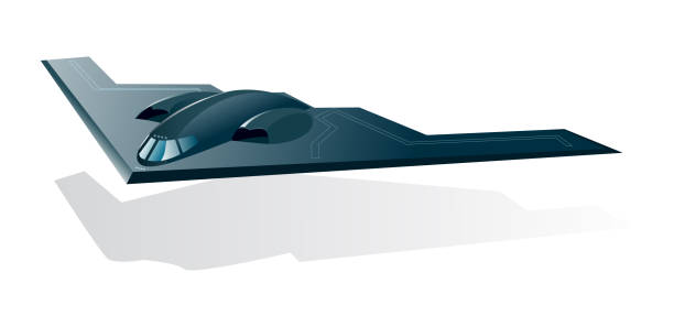 Northrop B-2 Stealth Bomber Northrop B-2 Stealth Bomber northrop b 2 stealth bomber stock illustrations